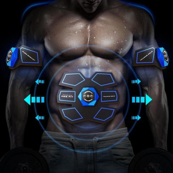 USB Rechargeable EMS Muscle Stimulator Abdominal Muscle Trainer Exerciser Electric Body Shaping Massager Slimming Patch Vibrator 1