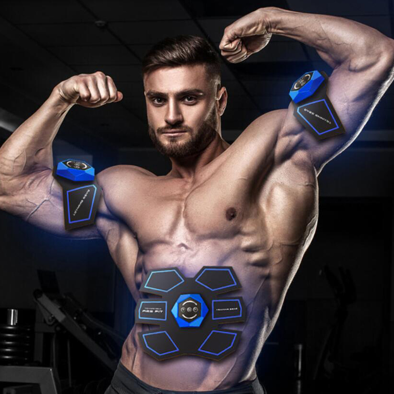 USB Rechargeable EMS Muscle Stimulator Abdominal Muscle Trainer Exerciser Electric Body Shaping Massager Slimming Patch Vibrator 2