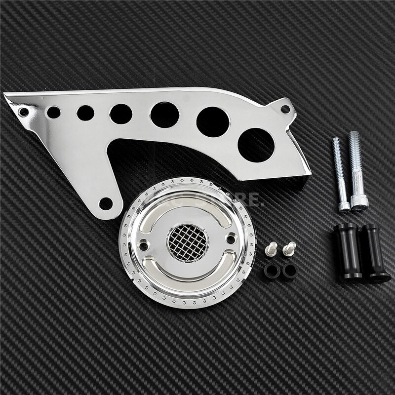 MACTIONS Front Drive Pulley Guard Cover Pulley Cover w/Mesh Countershaft For Harley Sportster 883 1200 XL 48 72 SuperLow 04-2018 5