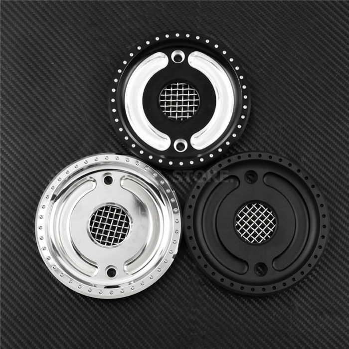 MACTIONS Front Drive Pulley Guard Cover Pulley Cover w/Mesh Countershaft For Harley Sportster 883 1200 XL 48 72 SuperLow 04-2018 2