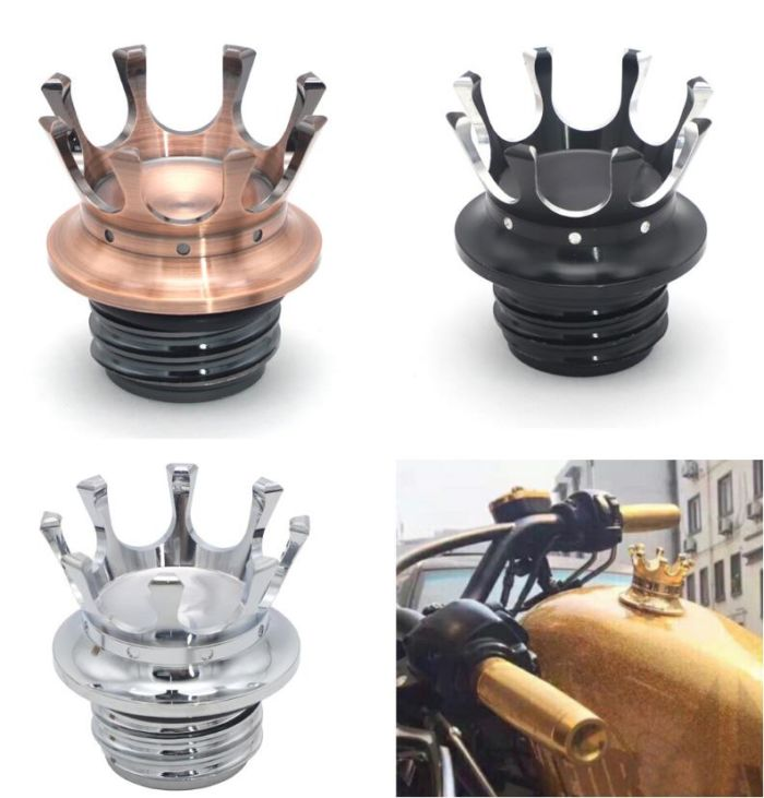Motorcycle Oil Cap CNC Aluminum Fuel Gas Tank cover cap for Harley Sportster 883 XL1200 X48 Dyna accessary 1