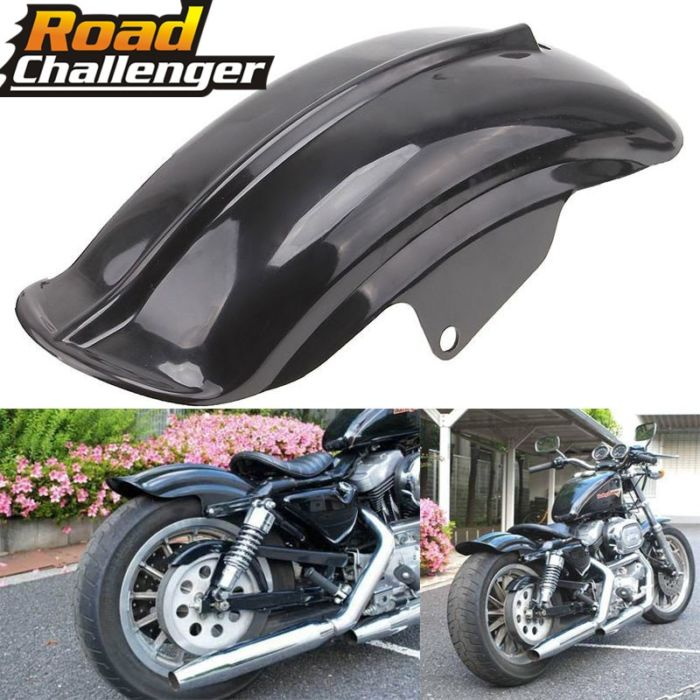 Black Plastic Motorcycle Rear Mudguard Fender for Harley Sportster Solo Bobber Chopper Cafe Racer 883 883R 1200 1994 - 2003 1