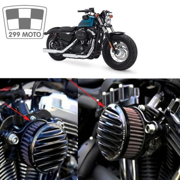 New hard crafts air cleaner filter inlet system for2004-2016 Harley Sportster XL 883 universal 1200 air cleaner filter 2