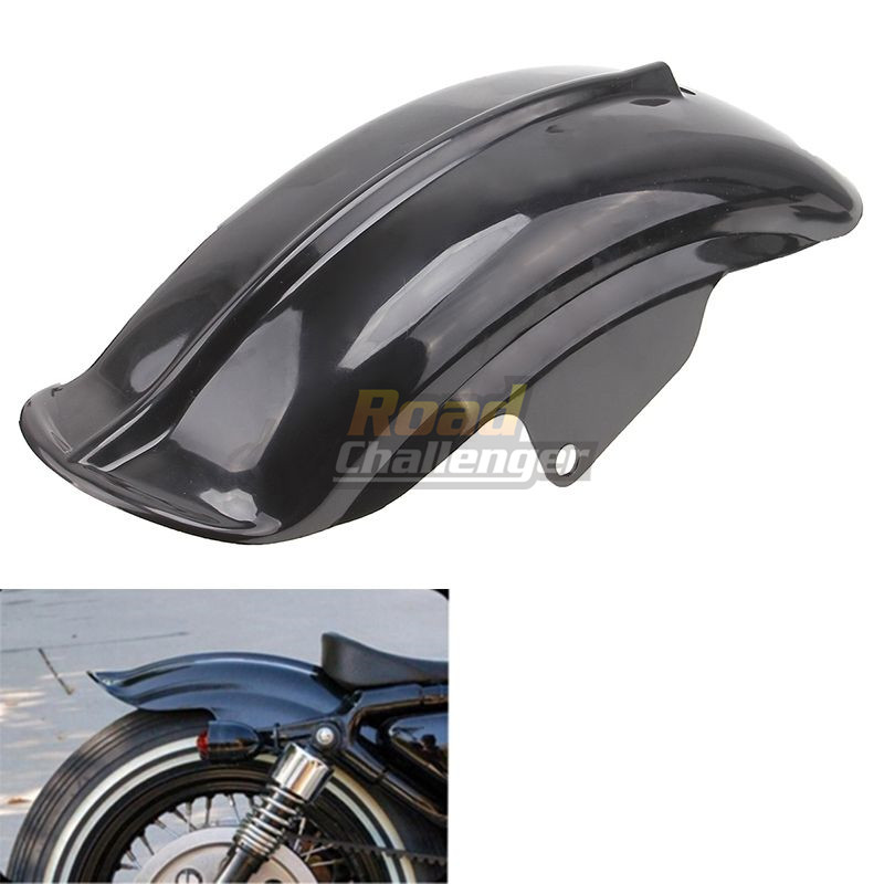 Black Plastic Motorcycle Rear Mudguard Fender for Harley Sportster Solo Bobber Chopper Cafe Racer 883 883R 1200 1994 - 2003 6