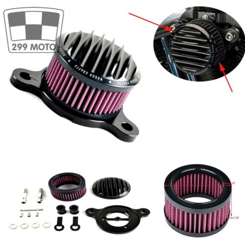 New hard crafts air cleaner filter inlet system for2004-2016 Harley Sportster XL 883 universal 1200 air cleaner filter 1