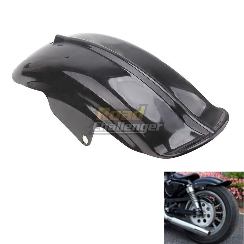 Black Plastic Motorcycle Rear Mudguard Fender for Harley Sportster Solo Bobber Chopper Cafe Racer 883 883R 1200 1994 - 2003 5