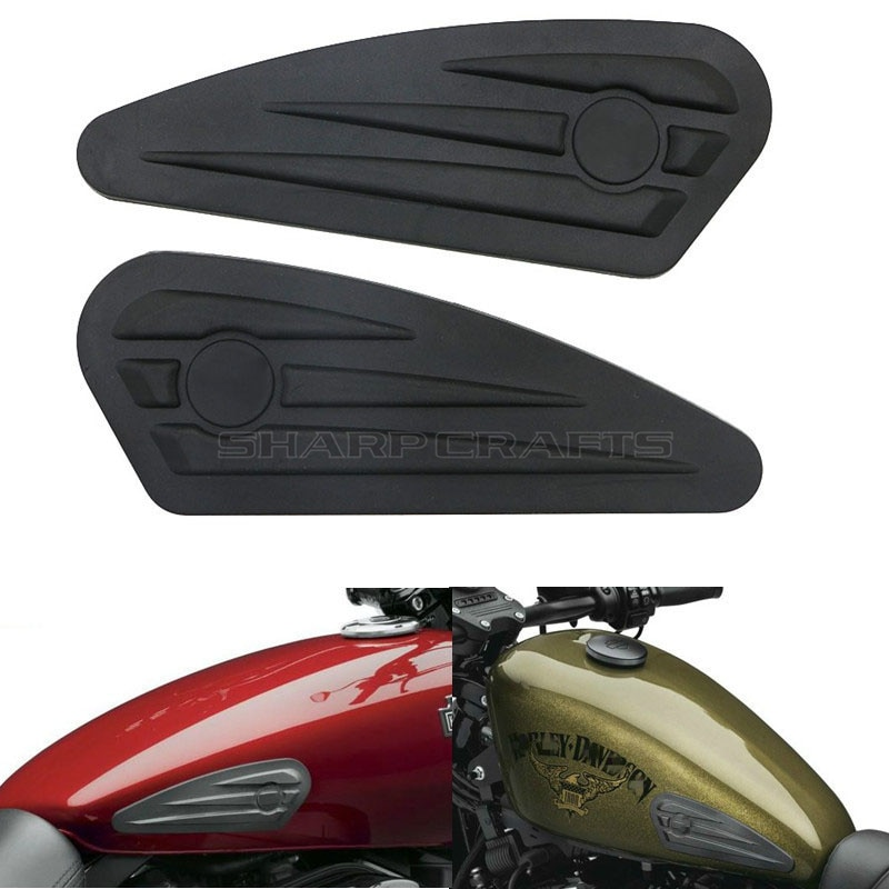 Motorcycle Gas Tank Pads Anti Slip Grip Traction Pad Sticker Side Fuel Decals For Harley Sportster XL 883 1200 X48 Street XG750 1