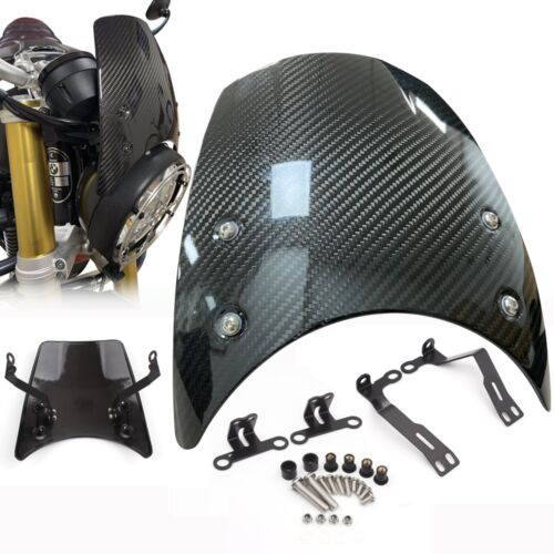 Carbon Fiber Windshield Wind Deflector Windscreen For BMW R NINE T NINET 2014-2020 Headlight fairing R9T R NINET Motorcycle Part 1