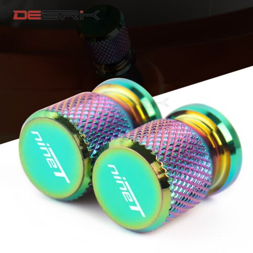 Universal Colorful Motorcycle Accessories Wheel Tire Valve caps CNC Aluminum Airtight Covers For BMW R NINET NINE T 2014-2016 1