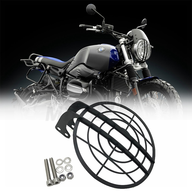 For BMW R NINE T NINET R9T R 9 T Racer Pure Urban scrambler Motorcycle Grille Headlight Protection Stainless Steel /Grille mesh 1