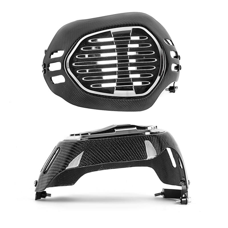 Carbon Fiber Motorcycle Cylinder Head Guards Protector Cover For BMW R1200GS 2010-2012 R NINET 2014-2017 2