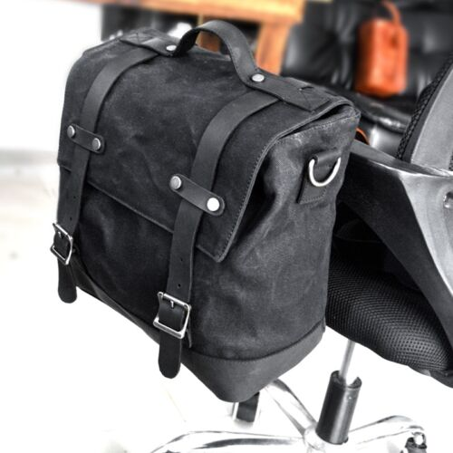 Vintage Motorcycle Bag Side Bag Side Box Side Bag Luggage Bag Tail Bag Paulin Shoulder Bag Camera Bag 1