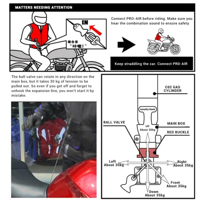 NEW Motorcycle Air-bag Vest Moto Racing Professional Advanced Air Bag System Motocross Protective Airbag Airbag Jacket 5