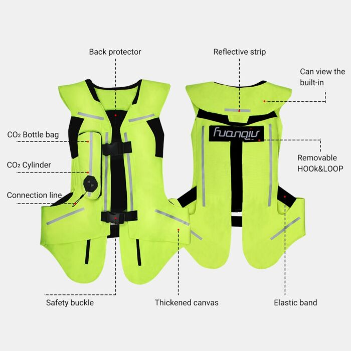 NEW Motorcycle Air-bag Vest Moto Racing Professional Advanced Air Bag System Motocross Protective Airbag Airbag Jacket 3