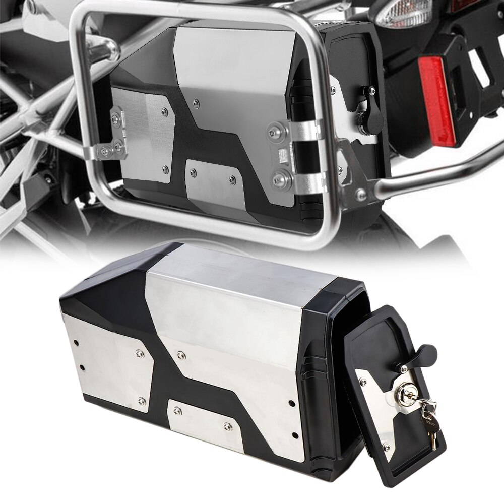 New Arrival! Tool Box For BMW r1250gs r1200gs lc & adv Adventure 2002 2008 2018 for BMW r 1200 gs Left Side Bracket Aluminum box 6
