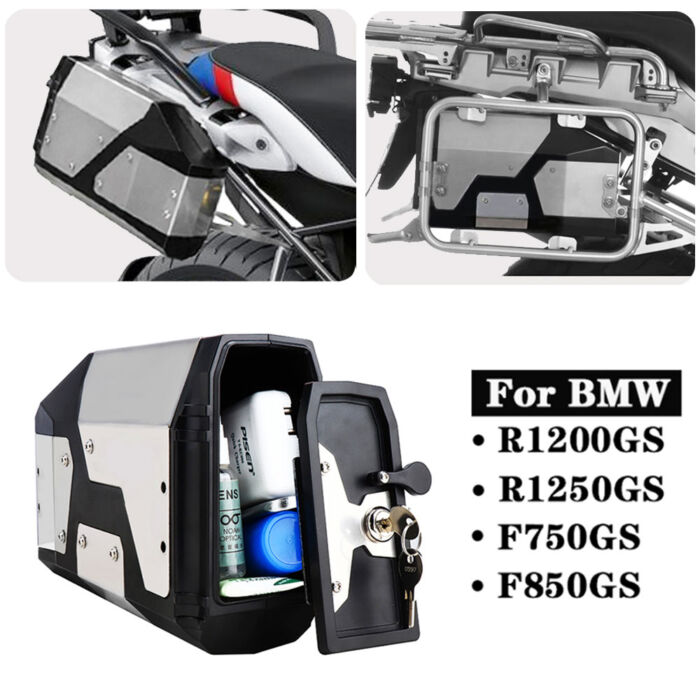 New Arrival! Tool Box For BMW r1250gs r1200gs lc & adv Adventure 2002 2008 2018 for BMW r 1200 gs Left Side Bracket Aluminum box 1