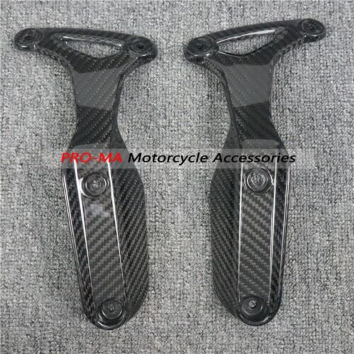 Motorcycle Front Fender Sides in Carbon Fiber For BMW R nineT R9T 2015+ Twill glossy weave 1