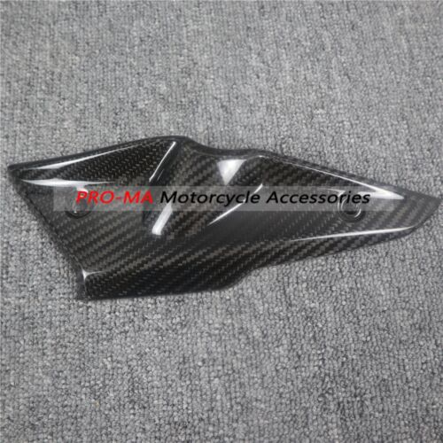Motorcycle Under Tank Cover (Left Side) in Carbon Fiber For BMW R nine T R9T 2015 - 2017 Twill Glossy Weave 1